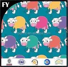 Factory high quality digital cow print fabric