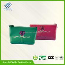 Professional zipper plastic bag pvc bag pvc cosmetic bag for wholesales WK1286