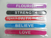 2012 hot sales silicone custom slap bracelets