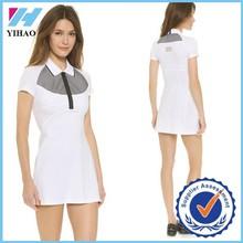 Comercio garantía Yihao para mujer Activewear da vuelta abajo vestido de tenis