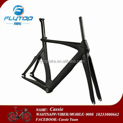 100% Toray T700 3K/UD glossy or matte carbon track frame with BB68/BSA road bike carbon frame china