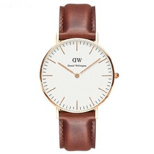 2015 brand luxury alibaba China daniel wellington casual leather watches men dw watch