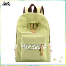 Fashion waterproof backpack bag, green girls school backpack
