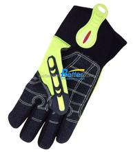 Hi-Vis anti-Cut Level 5 Oilfile high impact protective gloves