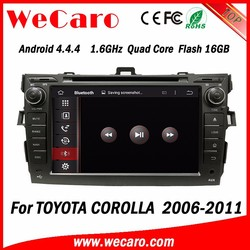 WECARO High Quality Pure Android 4.4 OS Car Gps Navigation System For Toyota Corolla 2010