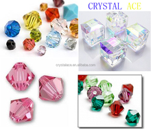 Bicone glass beads 4mm-12mm, crystal faceted glass beads for chandelier
