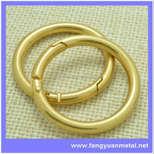 hot sale welded O ring for leather bag, clutch strap buckle