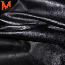 Pakistan cow finished leather cow skin in black