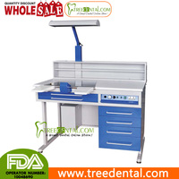 AX-JT4 110V USA Plug Dental Workstation Single Person Laboratory Equipments Built-in-Vacuum ,1.2M Length,dental lab table