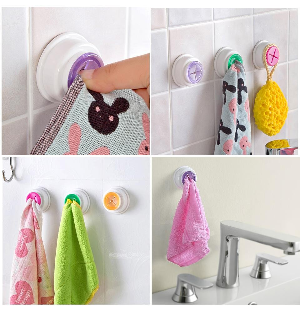 Bathroom hand towel holder