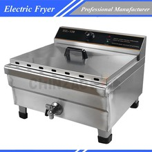Large 30L 4500W Capacity Commercial Deep Fryer For Fried Chicken