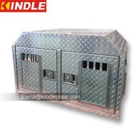 Custom Dual 2mm Aluminium Checker Plate Dog Boxes Truck Toolbox Body Parts