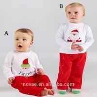 Custom Made Christmas Children Pants+Suits Clothes Santa Claus Pattern Suits Girls Boys Suit Kids Clothing Sets Manufacturer