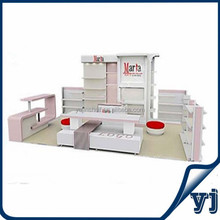 High quality MDF display cabinent,wood show case for sale