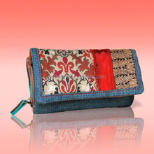 1264- Newest Denim Wallet, Stylish Nation Jeans Purse, clutch for women,Guangzhou Bags Manufacturer