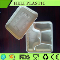 4-Compartments Disposable Plastic PP lunch food container/bento box