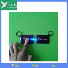 2015 new promotional gift items pvc led keychain/keyring