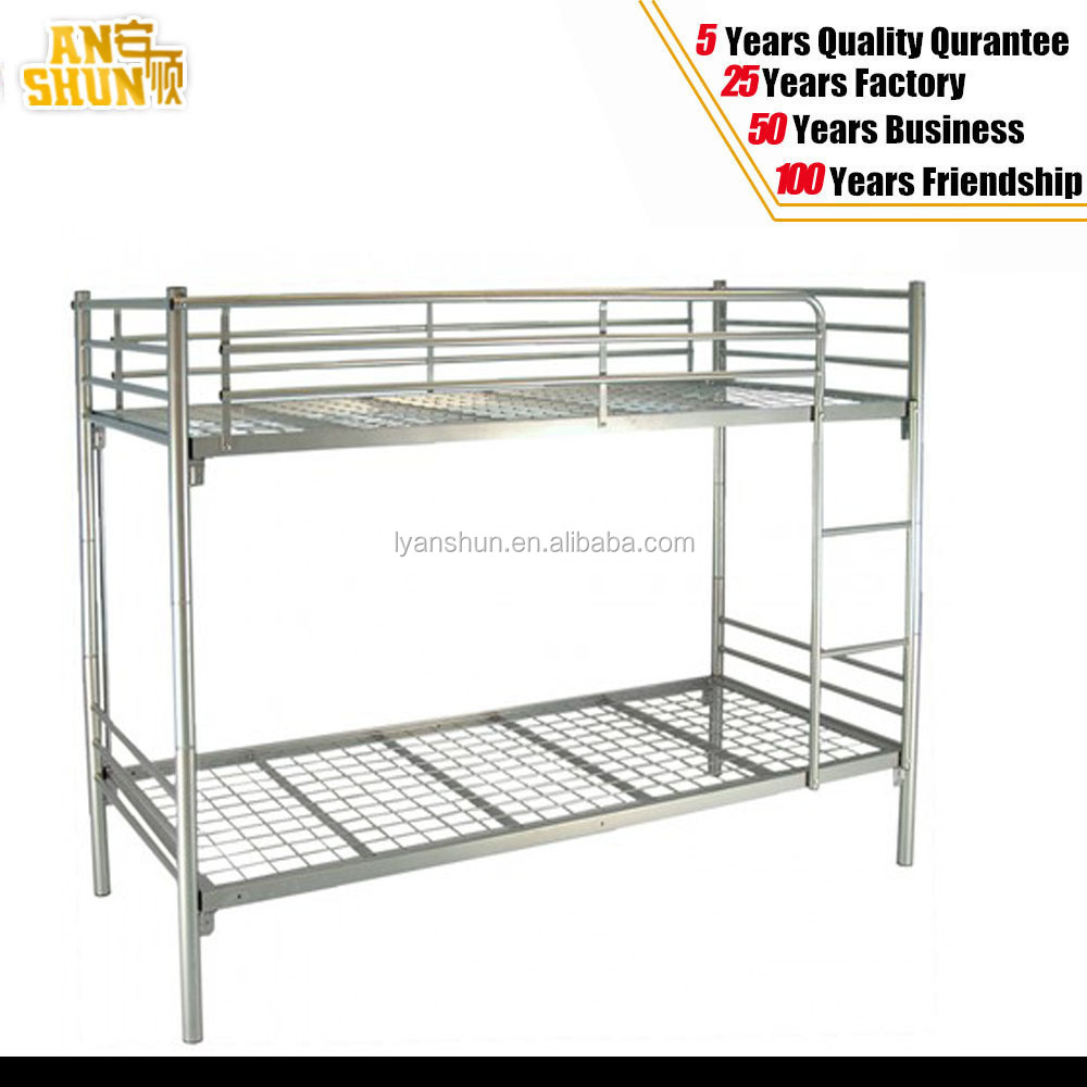 Cheap modern adult military style heavy duty metal bunk for Cheap metal bunk beds