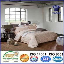 luxury jacquard queen size hotel bed linen