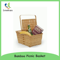 Rect Weave Bamboo Picnic Basket