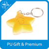 New low price promotional cute smile face star shape keychain customized