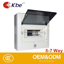 KBE 7 Ways Clear Distribution Box IP66 215*98*185 Electrical 3 Phase Power Distribution Box