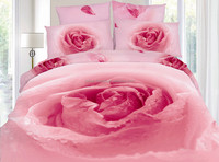100%cotton printing 3D luxurious bedspread, bed sheet set indian