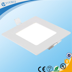 Zhongshan supplier super slim 3w 9w led recessed ceiling panel light 600x600 square led ceiling light 12w 18w 24w for home
