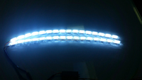 factory price 12v s8 tuning auto flexible drl led daytime running light