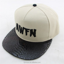 Customize flat bill hats white snapback and chape snapback caps and hats wholesale baseball hat and 3D Embroidery