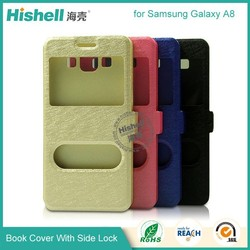 pu leather rugged cell phone case for Samsung A8