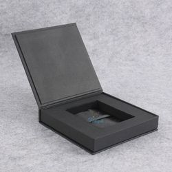 black paper usb flash drive packaging box
