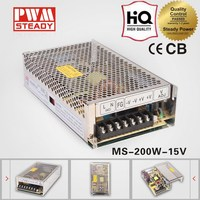 200w 15v 13.3a MINIATUR SWITCHING POWER SUPPLY with CE MS-200-15