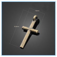 Antique Bronze,Antique Copper Hip Hop Smooth Cross Boy And Girl Charm For DIY Nepal Bracelet