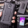 New Products PC+Silicone 3 in 1 Combo Armor Belt Clip Case for Samsung Galaxy Note 4 N9100 Top Selling In Alibaba