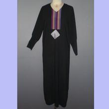 Black color simple decoration elegantly muslim abaya designs jubah MR-1024