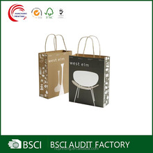Whoelsale hot selling durable brown kraft paper bag manufacturers