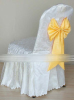 white jacquard polyester chair cover for banquet chairs folding chairs chiavari chairs