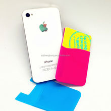 3M sticky silicone smart card wallet for mobile phone