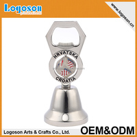 OEM high quality European brand souvenirs small metal gift hand dinner bell