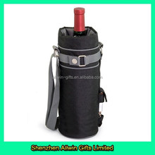 Picnic Wine Bottle Carrier,Insulated Wine Bottle Carrier With Shoulder Strap