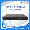 rj11 32 FXS port sip gateway voip ata box with 2 ethernet port