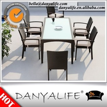 DYDS-D7615 Danyalife All Weather Outdoor Furniture Synthetic Rattan Garden Table and Chairs