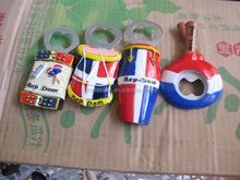 DS0350 resin Bottle Opener with colorful painting