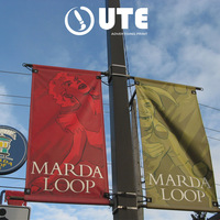 Outdoor Custom Street Pole Banner, Advertising Hanging Street Pole Banner Street Banner