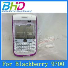wholesale High Quality parts for blackberry,Silver-edge full housing case cover for blackberry bold 9700