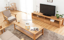 Updated promotional 2015 luxury wooden glass TV stand
