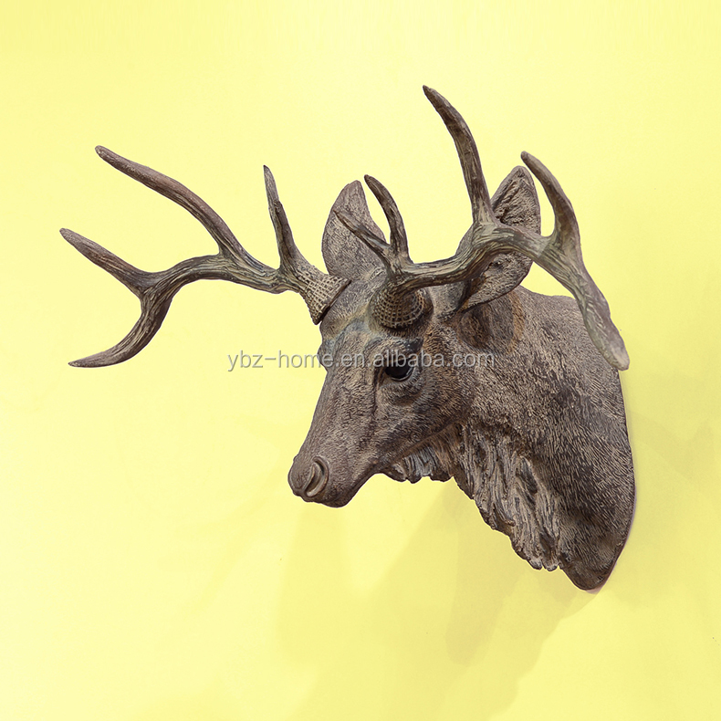 Plastic Deer Head Wall Decor : New artificial resin wall decor deer head