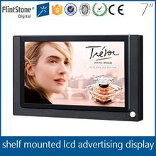 "FlintStone 7"" digital signage with motion sensor, shelf pos video display in stores, 7"" advertising displays"