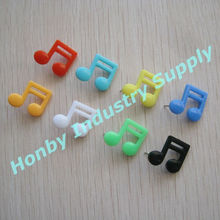 New items music note head plastic decorative tack